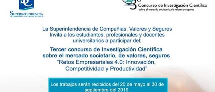 3er. Concurso de Investigación Científica «Retos empresariales 4.0: Innovación, Competitividad y Productividad»